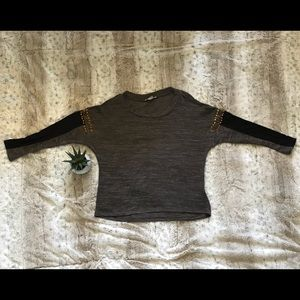 Double zero high low studded sweater SM NWOT